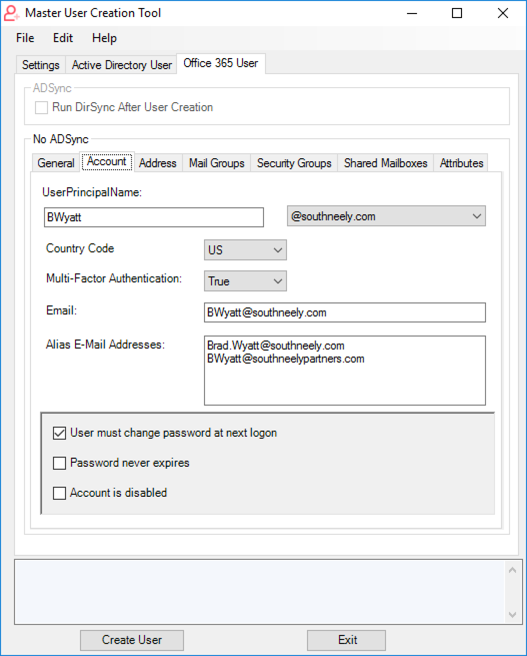 Tool] Create and Configure Active Directory and Office 365 Users at