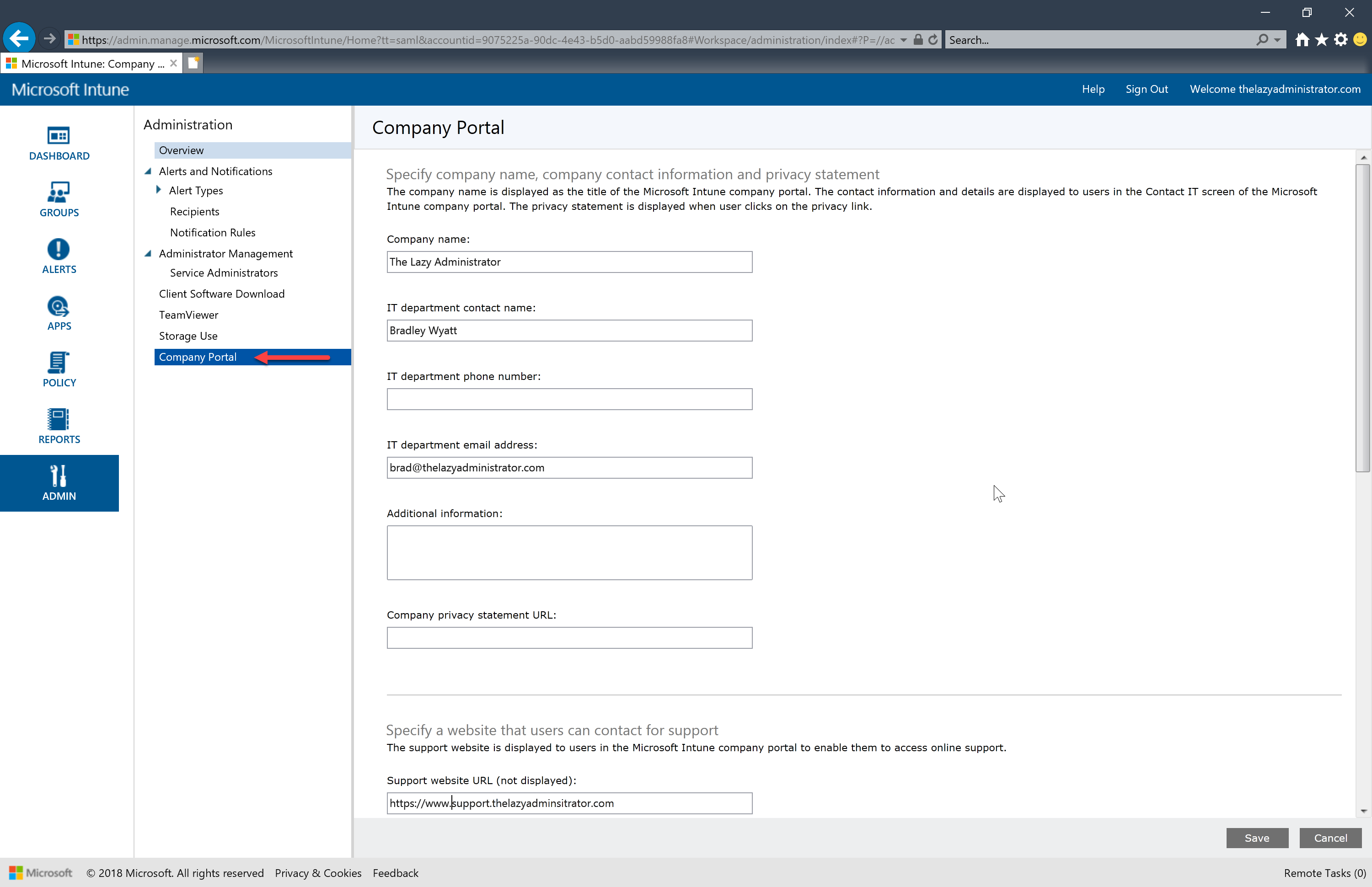 Configure and Deploy Intune MDM - The Lazy Administrator