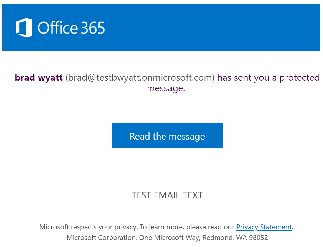 Customize your Office 365 Encrypted Messages with your