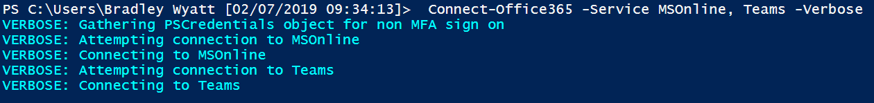 PowerShell Function to Connect to All Office 365 Services With