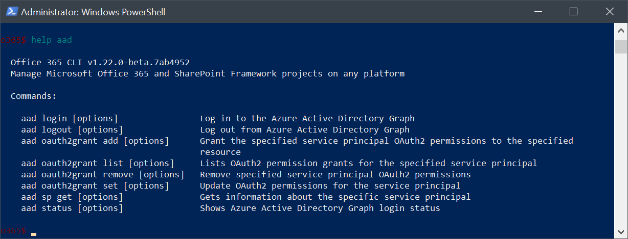 Getting Started With the Office 365 CLI - The Lazy Administrator