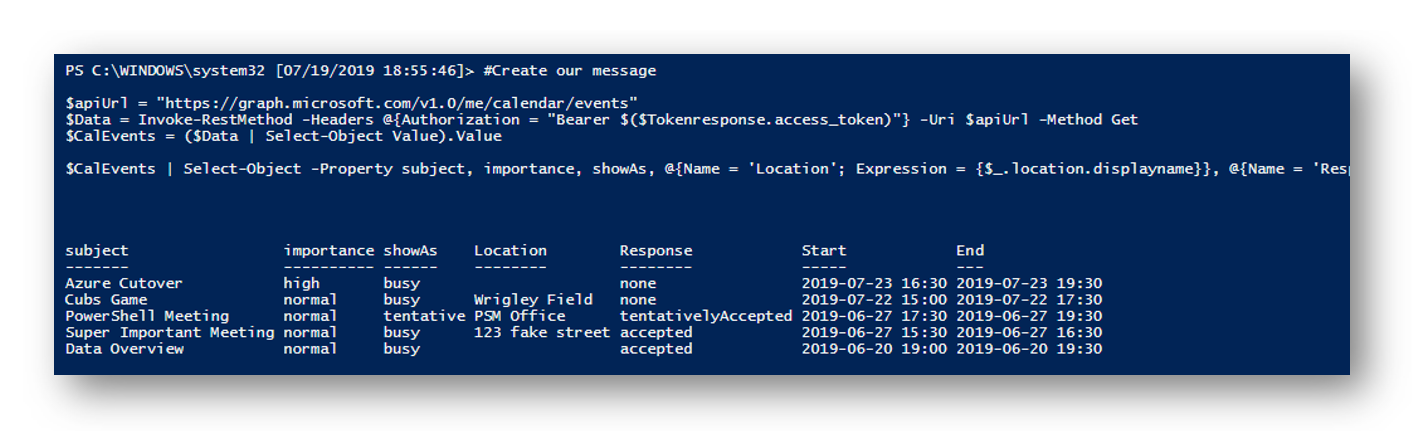 Connect and Navigate the Microsoft Graph API with PowerShell - The
