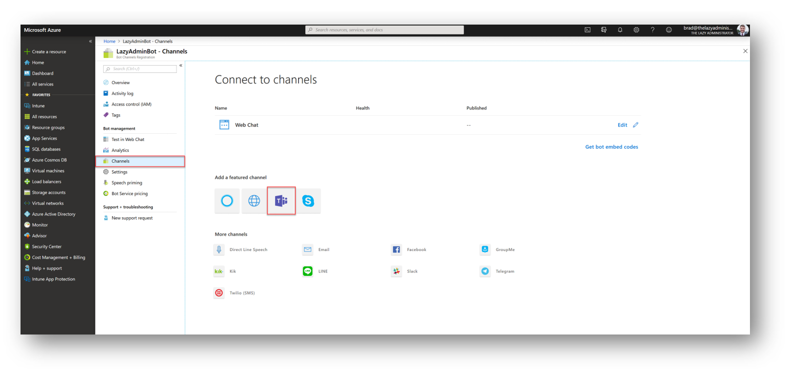 ChatOps: Setting up PoshBot for Microsoft Teams - The Lazy